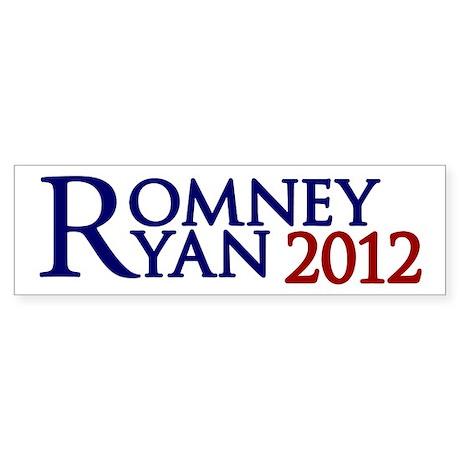 Mitt Romney Paul Ryan Sticker (Bumper)