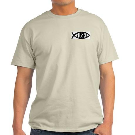 Sushi Fish Symbol Ash Grey T-Shirt