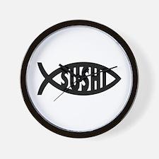 Sushi Fish Symbol Wall Clock