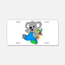 Koala Bear with backpack Aluminum License Plate