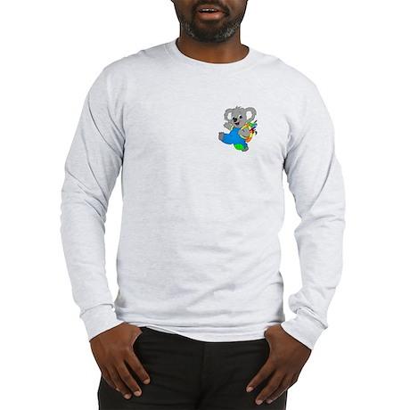 Koala Bear with backpack Long Sleeve T-Shirt