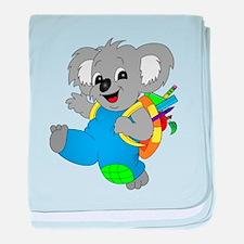 Koala Bear with backpack baby blanket