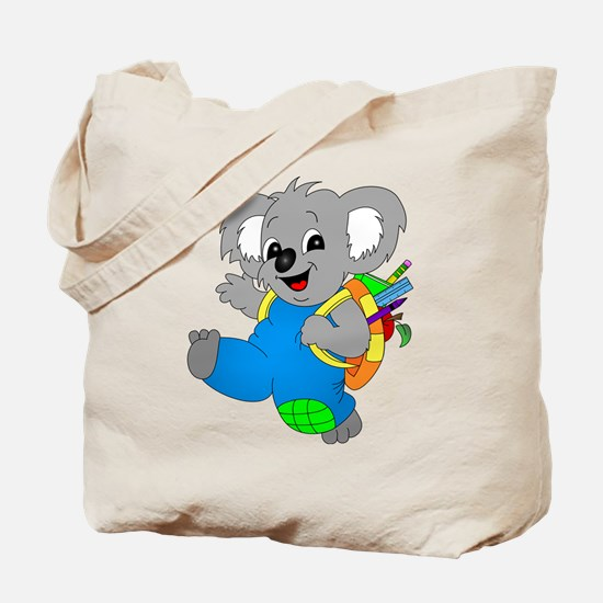 Koala Bear with backpack Tote Bag