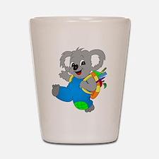 Koala Bear with backpack Shot Glass