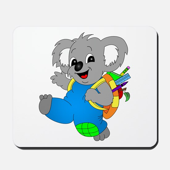 Koala Bear with backpack Mousepad