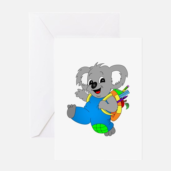 Koala Bear with backpack Greeting Card
