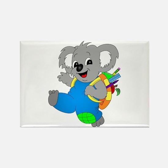 Koala Bear with backpack Rectangle Magnet