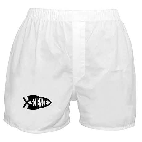 Science Fish Symbol Boxer Shorts