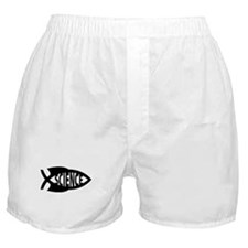 Science Fish Symbol Boxer Shorts