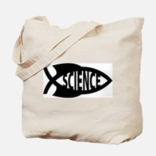 Science Fish Symbol Tote Bag