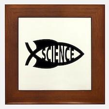 Science Fish Symbol Framed Tile