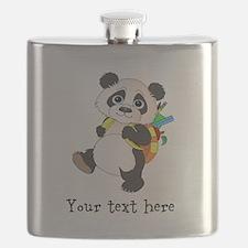 Personalize It - Panda Bear backpack Flask