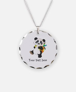 Personalize It - Panda Bear backpack Necklace