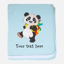 Personalize It - Panda Bear backpack baby blanket