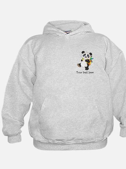 Personalize It - Panda Bear backpack Hoodie