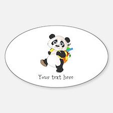 Personalize It - Panda Bear backpack Decal