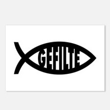 Gefilte Fish Symbol Postcards (Package of 8)