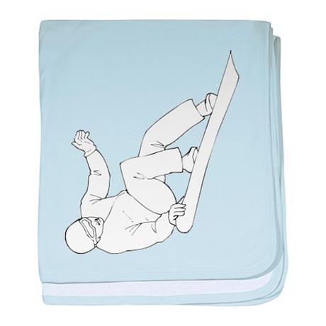 Snowboarding baby blanket