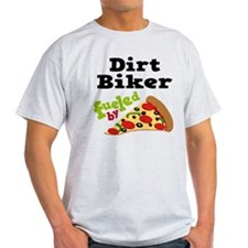 Dirt Biker Funny Pizza T-Shirt