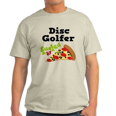 Disc Golfer Funny Pizza Light T-Shirt