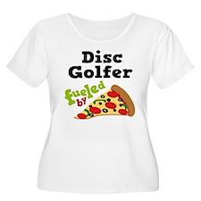 Disc Golfer Funny Pizza T-Shirt