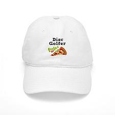 Disc Golfer Funny Pizza Baseball Cap