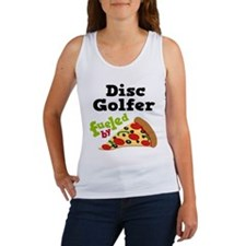 Disc Golfer Funny Pizza Women's Tank Top