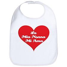 Grandma Loves Me (Italian) Bib