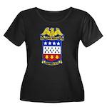 USS JONA Women's Plus Size Scoop Neck Dark T-Shirt