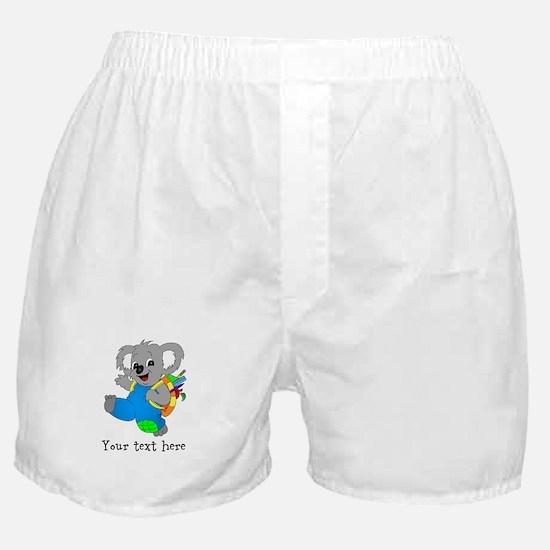Personalize it - Koala Bear with backpack Boxer Sh