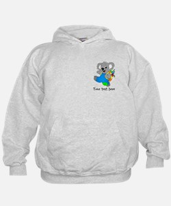 Personalize it - Koala Bear with backpack Hoodie