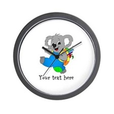 Personalize it - Koala Bear with backpack Wall Clo