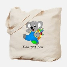Personalize it - Koala Bear with backpack Tote Bag