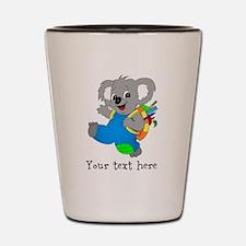 Personalize it - Koala Bear with backpack Shot Gla