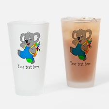 Personalize it - Koala Bear with backpack Drinking