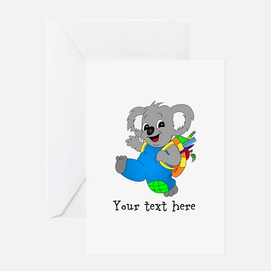 Personalize it - Koala Bear with backpack Greeting