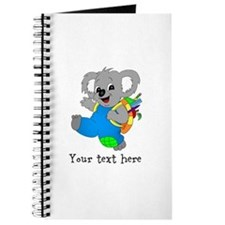 Personalize it - Koala Bear with backpack Journal