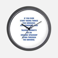 Taking Things Too Seriously Wall Clock