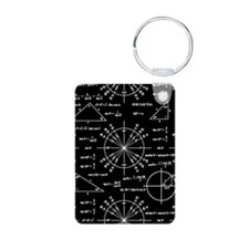 Trig and Triangles Aluminum Photo Keychain