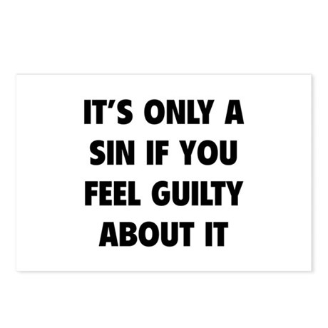 If You Feel Guilty About It Postcards (Package of