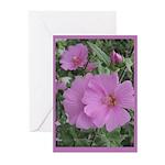 Fe's Pink Malva Greeting Cards (Pk of 10)