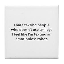 Emotionless Robot Tile Coaster