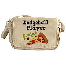 Dodgeball Player Pizza Messenger Bag
