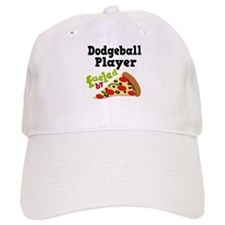 Dodgeball Player Pizza Baseball Cap