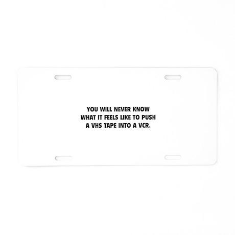 VHS Tape Aluminum License Plate