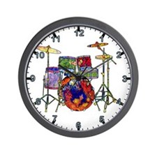 Wild Drums Wall Clock