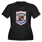 USS JOSEPH S Women's Plus Size V-Neck Dark T-Shirt