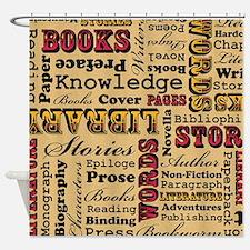 Books Books Books Shower Curtain