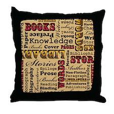 Books Books Books Throw Pillow
