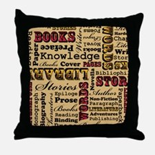 Books Books Books Throw Pillow